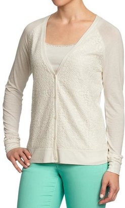 Old Navy Women's Lace-Front Jersey Cardis