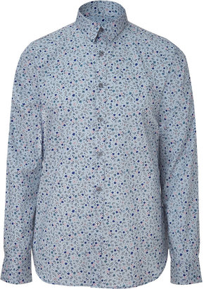 Paul Smith Smoke Blue Floral Shirt