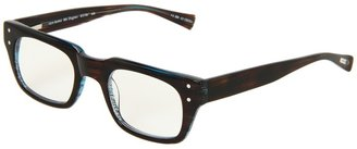 Eyebobs Mr. Digler Readers (Brown Stripe/Aqua Back) - Eyewear