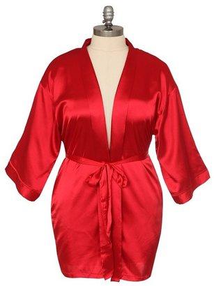 Red Satin Short Robe