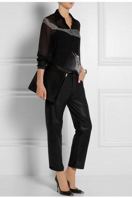 Mary Katrantzou Ligi printed silk-georgette shirt