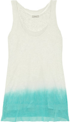 Clu Dip-dye cotton-mesh tank