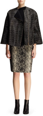 Lanvin Boxy Spotted Calf Hair Jacket