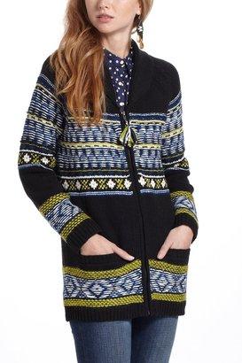 Anthropologie Batley Fairisle Sweatercoat