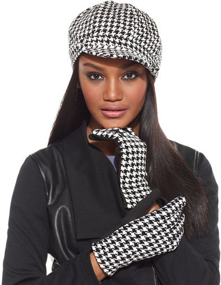 Charter Club Chenille Houndstooth Newsboy Cap Hat