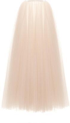 Rochas Illusion Tulle Plisse Long Skirt