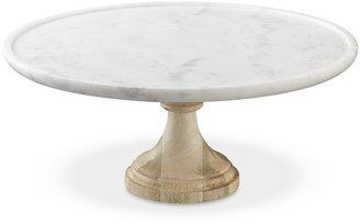 Williams-Sonoma White Marble Stand, Round