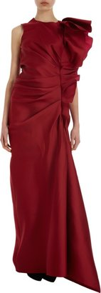Lanvin Sleeveless Gown With Side Ruffle