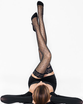 Wolford Silver Glam Stay-Up