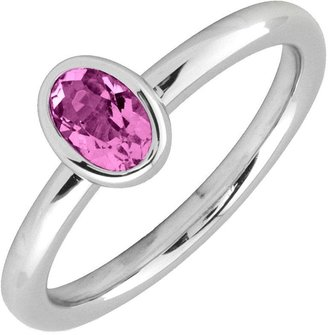 Simply Stacks Sterling & Oval Pink Tourmaline Ring