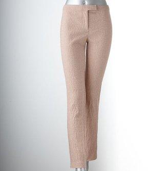 Vera Wang Simply vera jacquard skinny pants