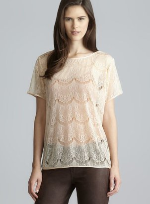 American Apparel Short Sleeve Scoop Neck Lace Tee