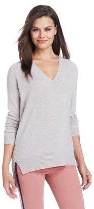 Christopher Fischer Women's 100% Cashmere Boyfriend V-Neck Sweater