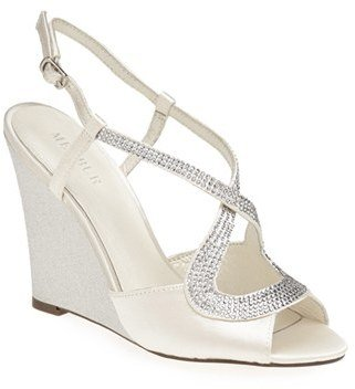 Women's Menbur 'Tunder' Satin Wedge Sandal $168.95 thestylecure.com