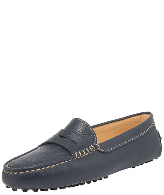 Tod's Gommini Pebbled Moccasin, Navy