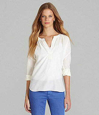 Vince Camuto TWO by Silk Splitneck Tunic