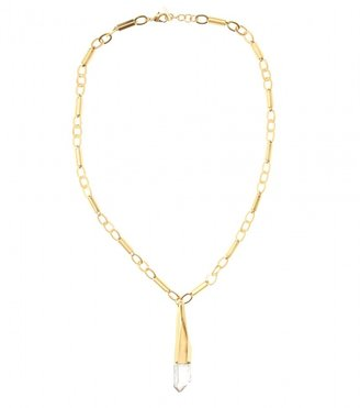 Vionnet LONG CHAIN LINK PENDANT NECKLACE WITH CRYSTAL GLASS STONE