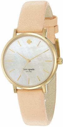 kate spade new york Women's Metro Vachetta Leather Strap Watch 34mm 1YRU0073 $175 thestylecure.com