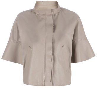 Valentino cropped lambskin jacket