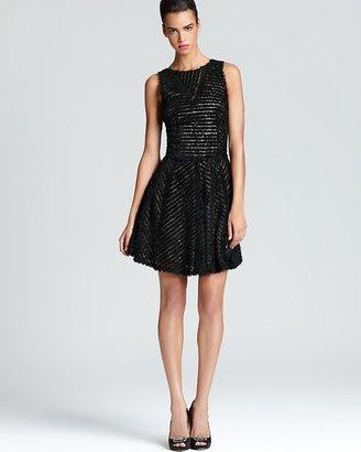 Nicole Miller Sleeveless Dress - Ruffle Skirt