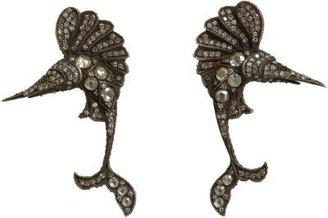 Sevan Biçakci White & Black Diamond Marlin Earrings