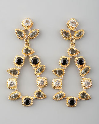Fragments for Neiman Marcus Crystal Teardrop Earrings