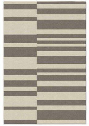 west elm Offset Stripe Wool Dhurrie