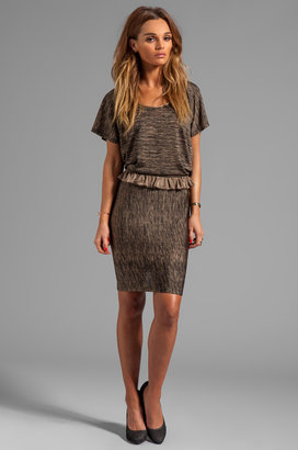 See by Chloe Short Sleeve Waist Detail Faux Top and Skirt Dress