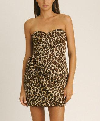 Forever 21 Leopard Side Bow Dress