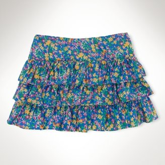Floral Cotton Pull-On Skirt