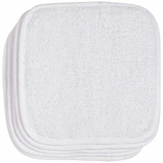 John Lewis & Partners Flannels, White Cotton, Pack of 5