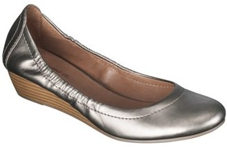 Mossimo Women's Orabel Scrunch Top Wedge - Pewter