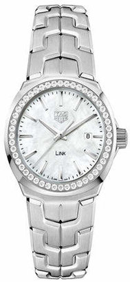 Tag Heuer Link Lady 0.676 CT Diamonds and Stainless Steel Watch