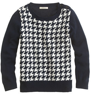J.Crew Girls' houndstooth button sweater
