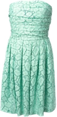 Moschino Cheap & Chic lace strapless dress