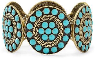 ARIZONA Arizona Blue Disc Stretch Bracelet $22 thestylecure.com