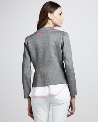 Milly Piped Linen Jacket