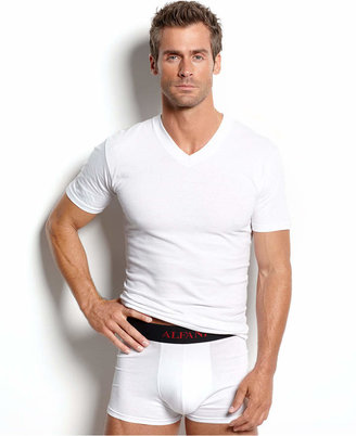 alfani men's underwear, tagless v neck Undershirt 4 pack $19.98 thestylecure.com
