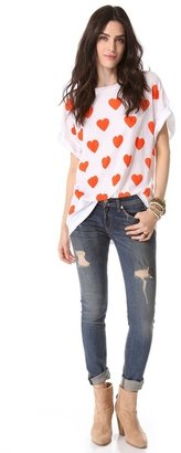 Wildfox Couture Falling in Love Tee