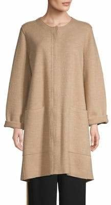 Eileen Fisher Boxy Wool Coat