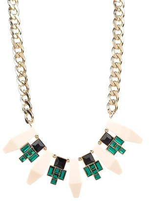 Lori's Shoes Chain and Gem Statement Necklace