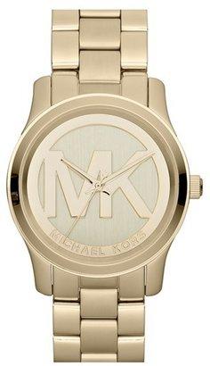 MICHAEL Michael Kors Michael Kors 'Runway' Logo Dial Bracelet Watch, 38mm