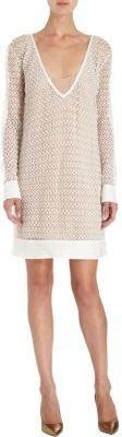 Missoni Crochet V-Neck Long Sleeve Dress