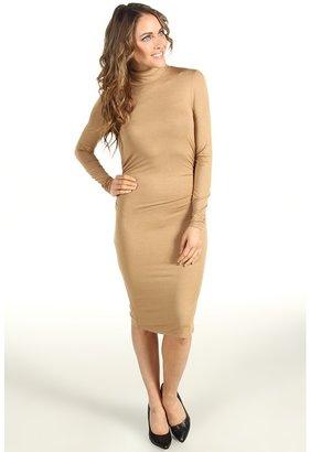 Three Dots L/S Turtleneck Dress w/ Shirring (Arabian) - Apparel