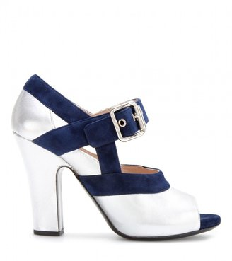 Miu Miu Leather and suede Mary-Jane pumps