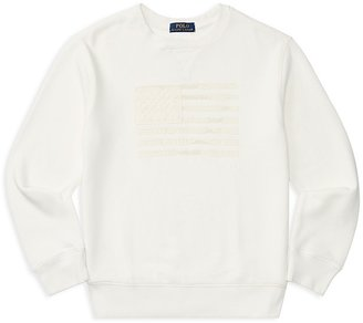 Ralph Lauren Childrenswear Boys' Atlantic Terry Flag Sweater - Big Kid