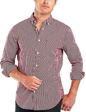 JCPenney jcpTM Long-Sleeve Striped Poplin Shirt