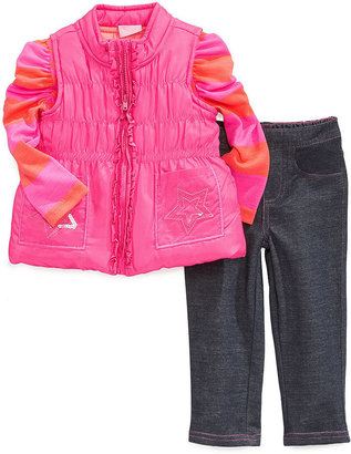 Nannette Baby Set, Baby Girls 3-Piece Shirt, Vest and Pants