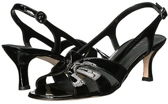 VANELi Maeve (Black Patent/Gunmetal Buckle) Women's Shoes