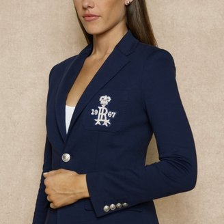 Ralph Lauren Blue Label Fleece Blazer With Crest